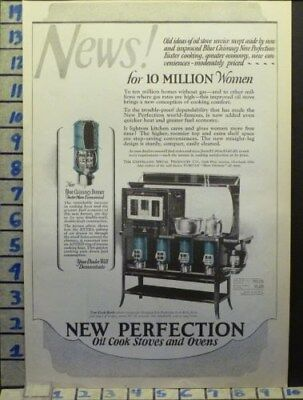 1924 New Perfection Stove Oven Kitchen Cleveland Home Decor Vintage Ad  Ah72