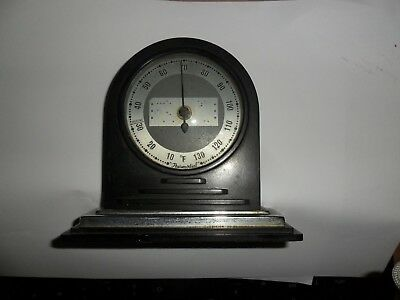 art deco bakelite and chrome thermometer