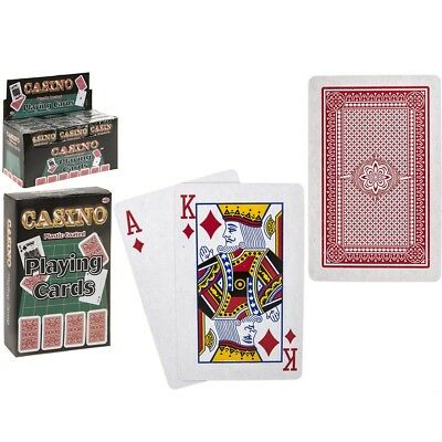 8.5cm Plastic Coated Playing Cards Poker Gaming Snap Deck Kings Queens Ace