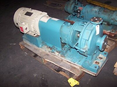 Goulds 1X2-10 Stainless Steel Centrifugal Pump 10 Hp 30 Gpm 460 Vac 316Ss 3196