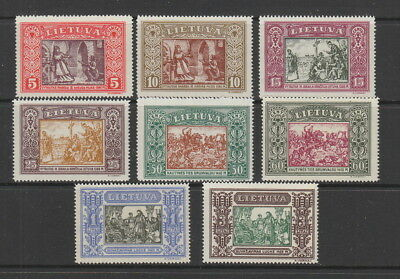 Lithuania 1932 Independence Postage Set fine MH . SG 336-343