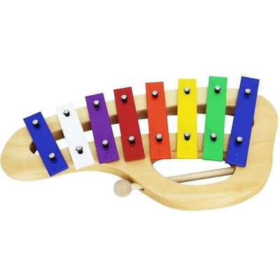 A-Star 8 Note Curved Glockenspiel - Coloured Keys