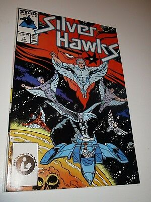 Silver Hawks 1 High Grade Marvel Star 1987 1st appearance TV show WHITE pages