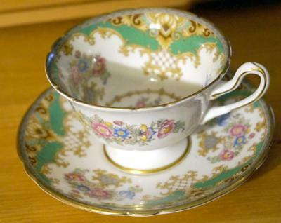 Shelley SHERATON GREEN TEA CUP and SAUCER MINT condition