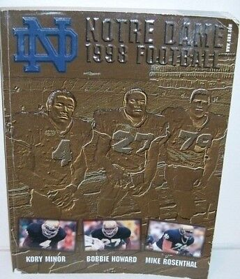 Notre Dame 1998 Football Media Guide