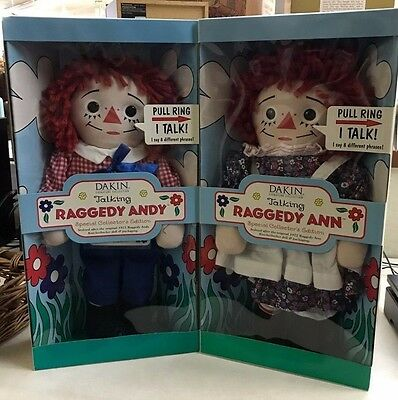 Talking Raggedy Ann & Andy Dolls Set of Two