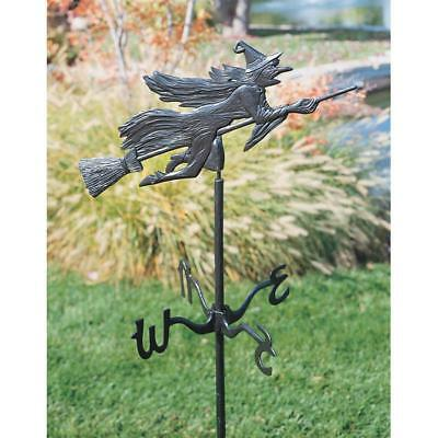 Design Toscano Halloween Outdoor Witch Garden Stake Weathervane