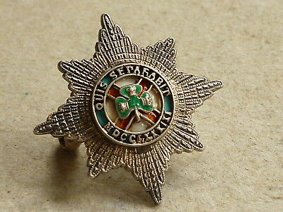 Vintage Most Illustrious Order Of St Patrick Silver & Enamel Badge
