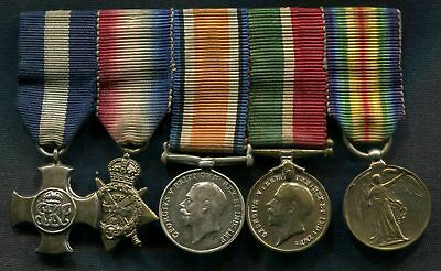 Miniature Medal group Distinguished Service Cross 1914 Trio Mercantile Marine