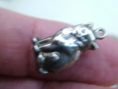 Silver Old Cat Charm