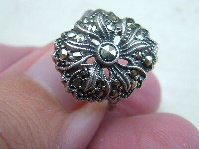 Silver Old Marcasite Ring Stunning