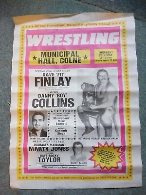 Dave Finlay ,Danny Collins, Marty Jones, Dave Taylor Original 1980;s poster.