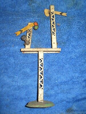 Hornby O gauge tinplate distant junction semaphore signal for renovation