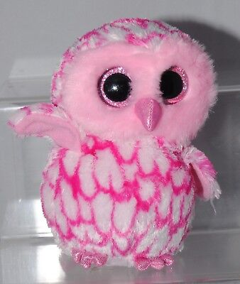 Ty Beanie Boo Pinky The Owl Soft / Plush Toy