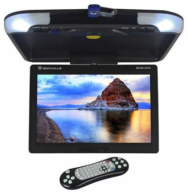 Rockville RVM13FD-BK 13 TFT Black Flip Down Car Monitor w/ USB/SD/Video Games