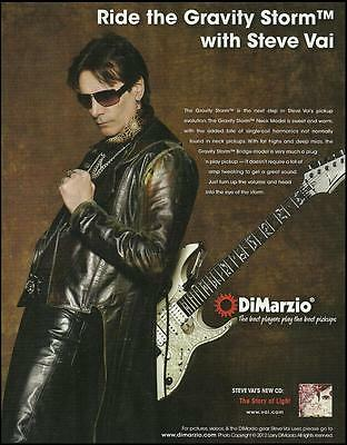 Steve Vai The Story of Light Ibanez JEM-EVO DiMarzio guitar pickups 8 x 11 ad
