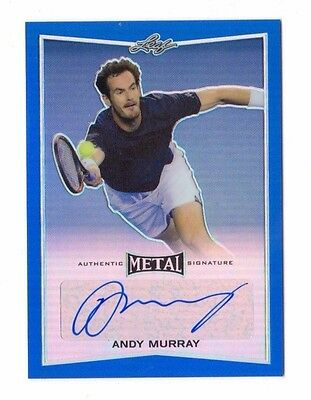 ANDY MURRAY 2016 LEAF METAL TENNIS BLUE AUTOGRAPH #ed 21/25 (WORLD`S NO 1)