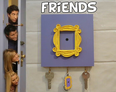 Friends tv serie - colgador de llaves key holder  peephole frame marco friends