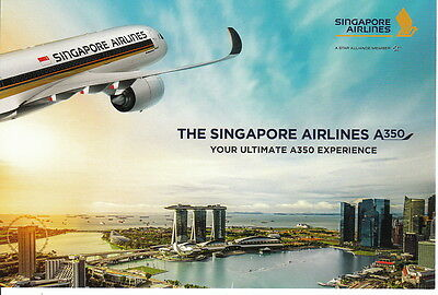 "Singapore Airlines Postcard Postkarte ""Your ultimate A350 Experience"""