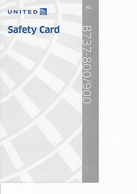 Safety Card United Airline B737-800/90 Sicherheitsdatenblatt