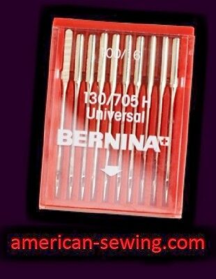 GENUINE Bernina UNIVERSAL SEWING MACHINE NEEDLES  130/705 H Size 100/16 ~ NEW