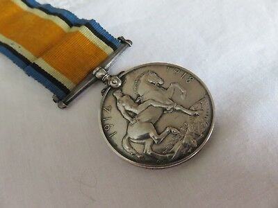 WW1 British Silver Medal 1914-1918. SRP B THORP R.N. King George on Ribbon