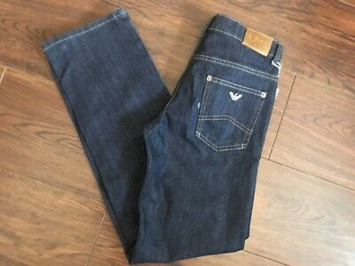 ARMANI TEEN jeans trousers Bottoms blue denim straight fit age 12 years. new
