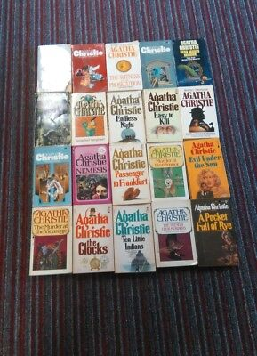 Agatha Christie Lot Of 20 Paperbacks