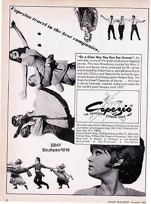 """1965 Capezio """"On A Clear Day You Can See Forever"""" Dance Print Advertisement"""