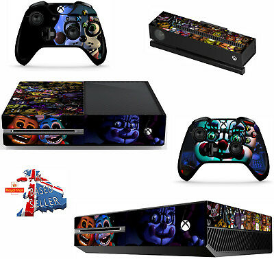 FIVE NIGHTS AT FREDDY,S 5 xbox one skins decals stickers + kinect + 2 cont game