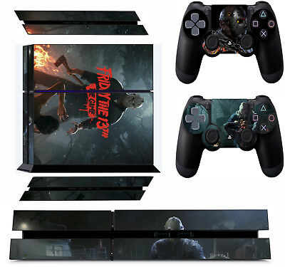 FRIDAY THE 13TH THE GAME ps4 Skin Decals Playstation 4 wrap vinyl stickers