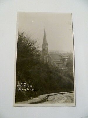 Longdon Hill road Upton on Severn Worcestershire real photo postcard unposted