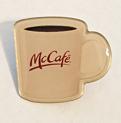 New McDonald's Lapel Pin McCafe Freshed Brewed Coffee In Logo Mug Cup