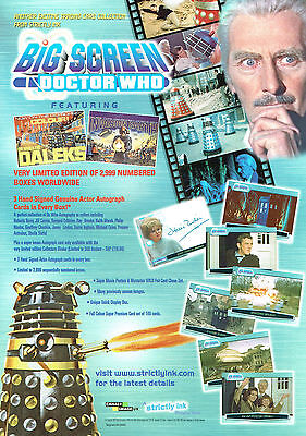 Doctor Who Big Screen Promotional Sell Sheet