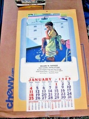 Early Calendar Advertising Calendar 1948 near mint to mint condition
