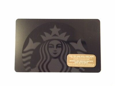 "Canada Series Starbucks ""SIREN ON BLACK 2015"" Gift Card - New No Value"