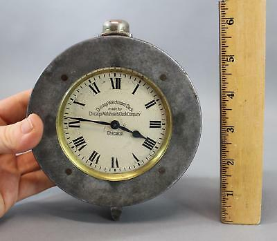 Antique Patd 1912 Chicago Watchmans Clock Company Time Detector No Reserve