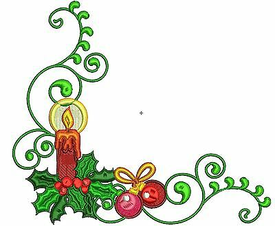 Christmas Borders **10** MACHINE EMBROIDERY DESIGNS 3 SIZES IMPCD10