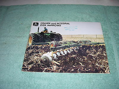 JOHN DEERE DRAWN and INTEGRAL DISK HARROWS 43 PAGE BROCHURE, 1971, A-7-71-9, EC