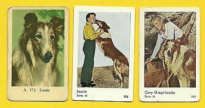 Lassie the Dog Gary Gray TV series Vintage 1960s Cards from Sweden LOT E