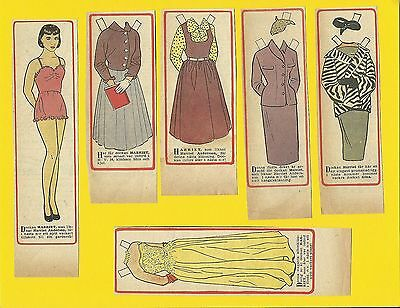 Harriet Anderson Rare Vintage 1950s Movie Film Star Paper Doll Sweden