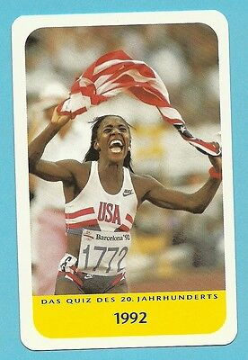 Gwen Torrence Olympics Track & Field Sprinter Cool Collector Card Europe Look!