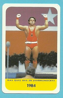 Rolf Milser Olympics Weight Lifting Cool Collector Card Europe Look!