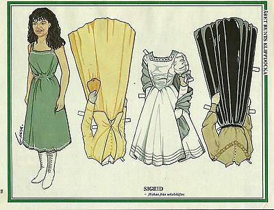 SIGRID Vintage Swedish Paper Doll Australian multi-award winning actress