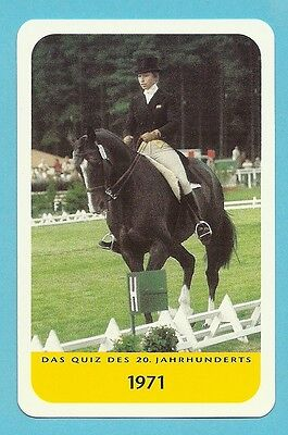 Princess Anne Equestrian Horse Jumping  Cool Collector Card Europe Look!