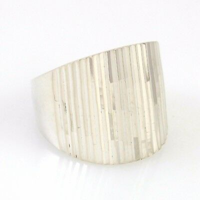 Large Vintage Mexican Handmade Sterling Silver Ring Sz 9 | RS M