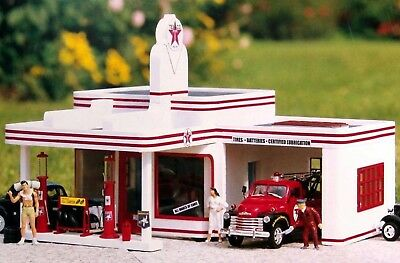 PIKO TEXACO FILING STATION G Scale Building Kit #62251 New in Box