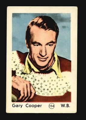 Gary Cooper #154 from the 1952 Maple Leaf Film Stars Series Printed in Holland