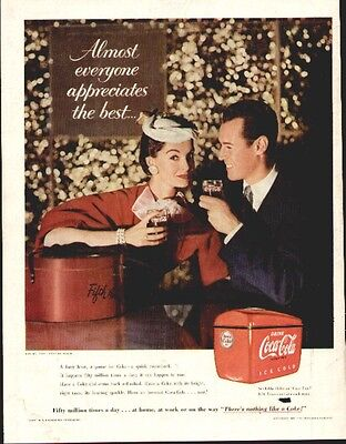 Coca Cola ad from the Feb 28th 1955 Life Mag (young Couple)