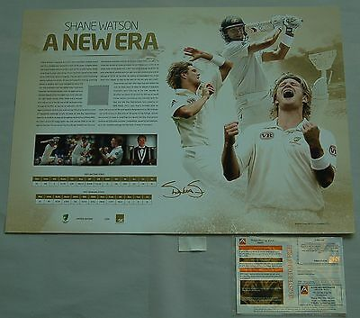 Shane Watson Hand Signed A New Era Print Limited Edition Official Clarke Smith